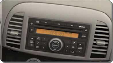 Autoradio-CD MP3 Nissan Micra.