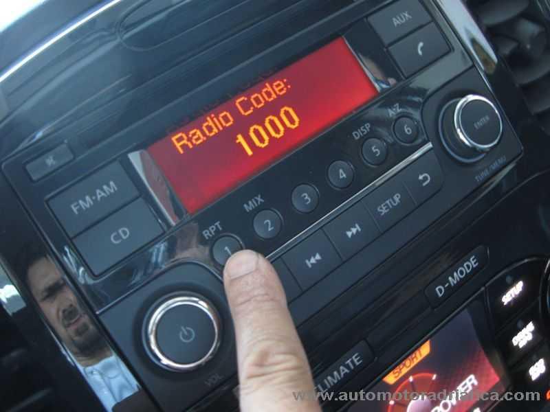 inserimento codice radio nissan juke