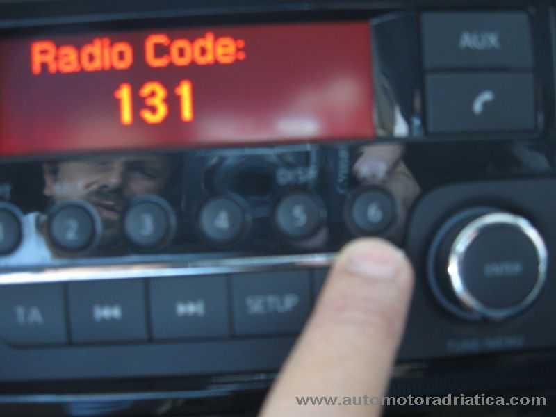 inserimento codice radio juke